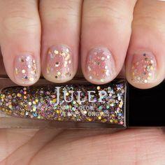 Julep Nail Color Polish Holo Glitter Gold Sparkle MultiD Top Coat Popular Paris #Julep