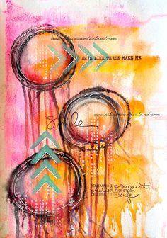 Art Journal Mixed Media - Original Art - Days like these
