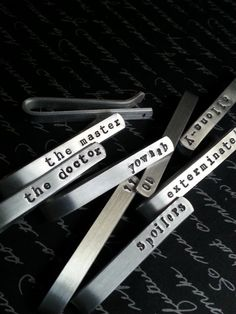 Pick Your Own Tie Bar / Design Your Own Tie Tack Doctor
