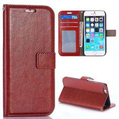 Glad bruin 3-in-1 booktype hoesje voor iPhone 6