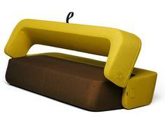Upholstered fabric sofa bed REVOLVE by prostoria Ltd | design Roberta Bratovic, Ivana Borovnjak, Numen / For Use - Red Dot Design Award WINNER