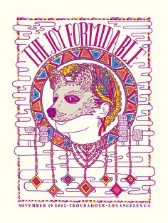 Poster from our show at the Troubadour in LA. What a lovely evening.
