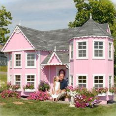 Victorian Pink Playhouse. How does anyone ever top this in the rest of her life? wow...