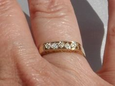 10K Gold Diamond Heart I Love You Ring, Size 9.5, Signed, Vintage 2000s, Engagement Ring