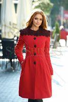 Palton LaDonna Fresh Winter Red (LaDonna) Shirt Dress, Coat, Red, Jackets, Shirts, Winter, Dresses, Fashion, Down Jackets