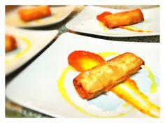 Rollitos crujientes de pato con mermelada de calabaza - Axel, el chef en casa
