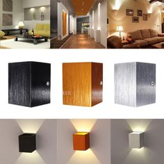 Modern 3W LED Wall Light Up Down Lamp Sconce Spot Lighting Home Bedroom Fixture #Unbranded