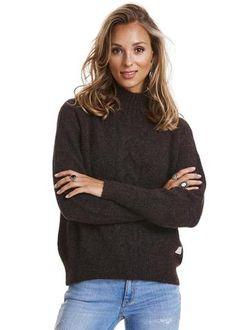 Odd Molly Sweater brun - Ready Steady Turtleneck 816M-850 dark brown – Acorns