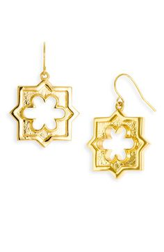 Tory Burch 'Geo Star' Angular Drop Earrings (Have I mentioned that I adore geometric designs.)