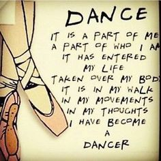 A dancer's life.