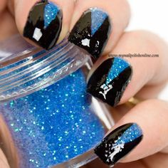 Blue loose glitter triangles