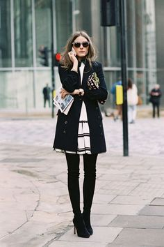 Olivia Palermo attends the Antonio Berardi Fall 2013 collection show during London Fashion Week. Fashion Mode, Look Fashion, Fashion News, Womens Fashion, Office Fashion, Fall Fashion, Preppy Fashion, Preppy Style, Business Fashion