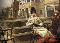 James Jacques Joseph Tissot (1836-1902) – Waiting for the Ferry