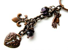 Accessories Copper and Beaded Keychain by AccessoryShowcaseNY
