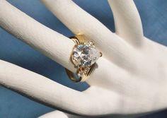 In my #etsy shop: Ladies Zircon Dinner Ring Cocktail #Size9 Signed SETA Vermeil Retro Vintage Wedding Jewellery Jewelry Gift Guide Women Hollywood Regency http://etsy.me/2CNa3AQ #jewelry #ring #gold #zircongemstone #signedSETA