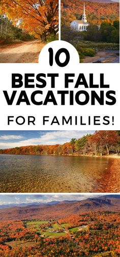 I LOVE these ideas for fall vacations for families! These Scenic drives are amazing with the fall colors! Fall Vacations, Best Vacation Destinations, Best Vacation Spots, Vacation Ideas, Usa Places To Visit, Best Places To Camp, New England Fall, Day Trips, Fall Photos