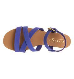 Hawaii Cobalt Blue Nubuck Sandals - Office