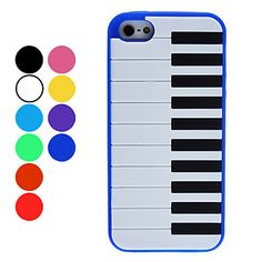 Piano Keyboard Style Soft Case for iPhone 5 (Assorted Colors)  – USD $ 4.99