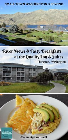 Looking for a hotel in Clarkston, Washington with comfortable river view rooms, amazing breakfasts, a pool and pet-friendly rooms? The Quality Inn & Suites has all four! #family #pets #hotel  #WashingtonState #smalltowns