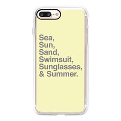 Sea Sun Sand  Swimsuit Sunglasses and Summer - iPhone 7 Case, iPhone 7... (54 CAD) ❤ liked on Polyvore featuring accessories, tech accessories, iphone case, iphone cases, apple iphone case, iphone cover case and slim iphone case