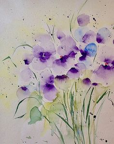 Watercolor Purple Flowers Art Print by Britta Zehm. All prints are professionally printed, packaged, and shipped within 3 - 4 business days. Choose from multiple sizes and hundreds of frame and mat options.