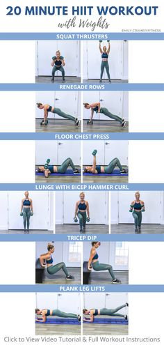 20 Minute HIIT Workout with Weights