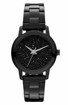 DKNY Black Pebble Crystal Dial Watch | Nordstrom