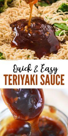 Best Sauce Recipe, Sauce Recipes, Cooking Recipes, Cooking Ideas, Homemade Teriyaki Sauce, Homemade Sauce, Dips, Pesto, Sauces
