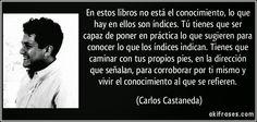 Casa de Euterpe: Conocimiento - Carlos Castañeda