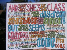 ATeam Lyric Drawing by TaylorandEmilysEtsy on Etsy, $5.00