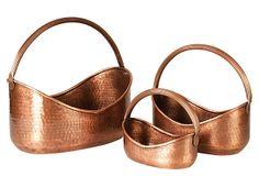 Copper Planters...set of 3!