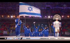 picture of team Israel entering the 2014 Olympic Opening Ceremony in Sochi.