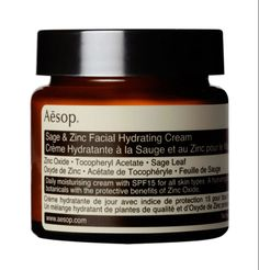 "4 June 2014 - Aesop, Sage and Zinc Facial Hydrating Cream - ""Like a drink for your skin, wakes me up on a morning."" Rachael Clifton, Online Fashion Merchandiser"
