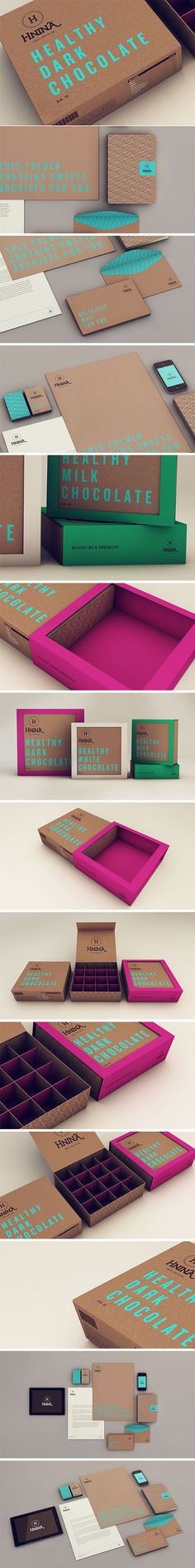 Isabela Rodrigues / Sweety Branding Studio– Packaging and identity for Hnina, a healthy chocolate alternative Design Web, Logo Design, Brand Identity Design, Graphic Design Branding, Label Design, Branding And Packaging, Cool Packaging, Business Branding, Packaging Design