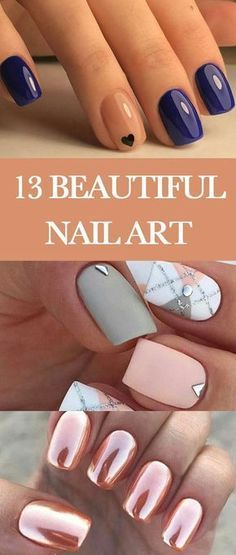 13 Beautiful summer nail art designs to try this summer 2017. Black Matt Nails, checked pattern nails, rounded nail in pink, rose gold metallic nail polish, Latest Geometric nail art designs, Gradient glitter nail designs and shape. // Beauty Make up Ideas Tips