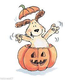 Items in Ratones67 store on eBay! Cartoon Dog, Cartoon Pics, Cartoon Drawings, Cute Drawings, Halloween Pictures, Cute Halloween, Halloween Cards, Penny Black Stamps, Halloween Illustration
