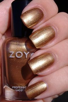 Zoya Richelle, the color of pennies!  So pretty.