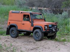 Beautiful scale Land Rover Defender radio controlled truck