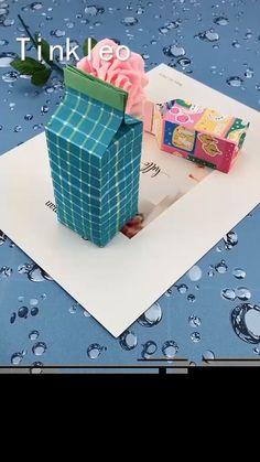Origami Gift Box, Paper Crafts Origami, Diy Paper, Origami Bookmark, Paper Art, Diy Gift Box Template, Paper Box Template, Origami Templates, Paper Gift Box