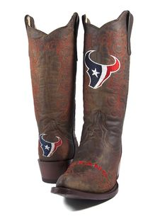 Houston Texans Cowgirl Bling Boots...well, looks like I need to do ...
