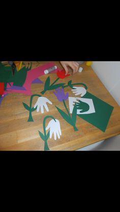 Fine forårsblomster af søde små hænder