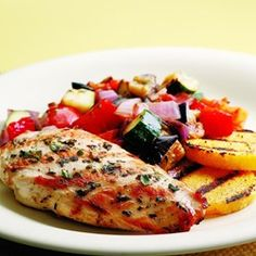 Grilled Chicken Ratatouille - EatingWell.com