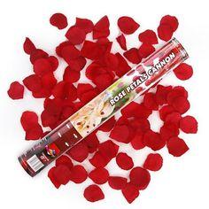Un canon à Pétales de roses rouges pour une explosion de conféttis à la sortie de l'église ou dans la salle de réception de votre mariage. Une ambiance inoubliable pour un moment magique, vous aurez le choix d'autres couleurs de pétales de ros