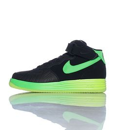 black pink and lime green air force ones