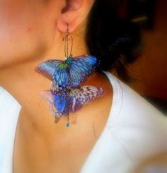 organza butterfly earrings