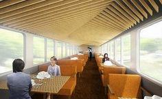 隈研吾が西武鉄道が運営する観光電車のエクステリア・インテリアをデザイン