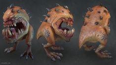 Squig, Eric Spitler on ArtStation 3d Character, Character Concept, Concept Art, Character Design, Warhammer Figures, Warhammer Fantasy, Warhammer 40k, Dota 2, Goblin Art