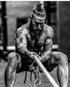 Bearded crossfit men. In this case I'll allow the man-bun - Tap the pin if you love super heroes too! Cause guess what? you will LOVE these super hero fitness shirts!