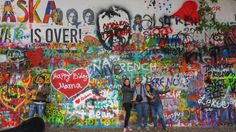 John Lennon Wall in Prague.