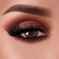 Copper Eye Makeup, Eye Makeup Tips, Makeup For Brown Eyes, Smokey Eye Makeup, Makeup Goals, Makeup Inspo, Eyeshadow Makeup, Makeup Inspiration, Face Makeup